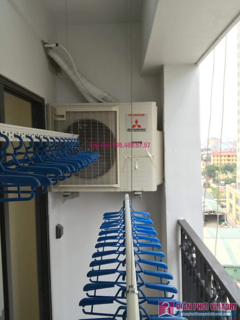 Lắp giàn phơi Hoàng Mai, nhà chị Thành, chung cư Sunshine Palace, ngõ 13 Lĩnh Nam - 04