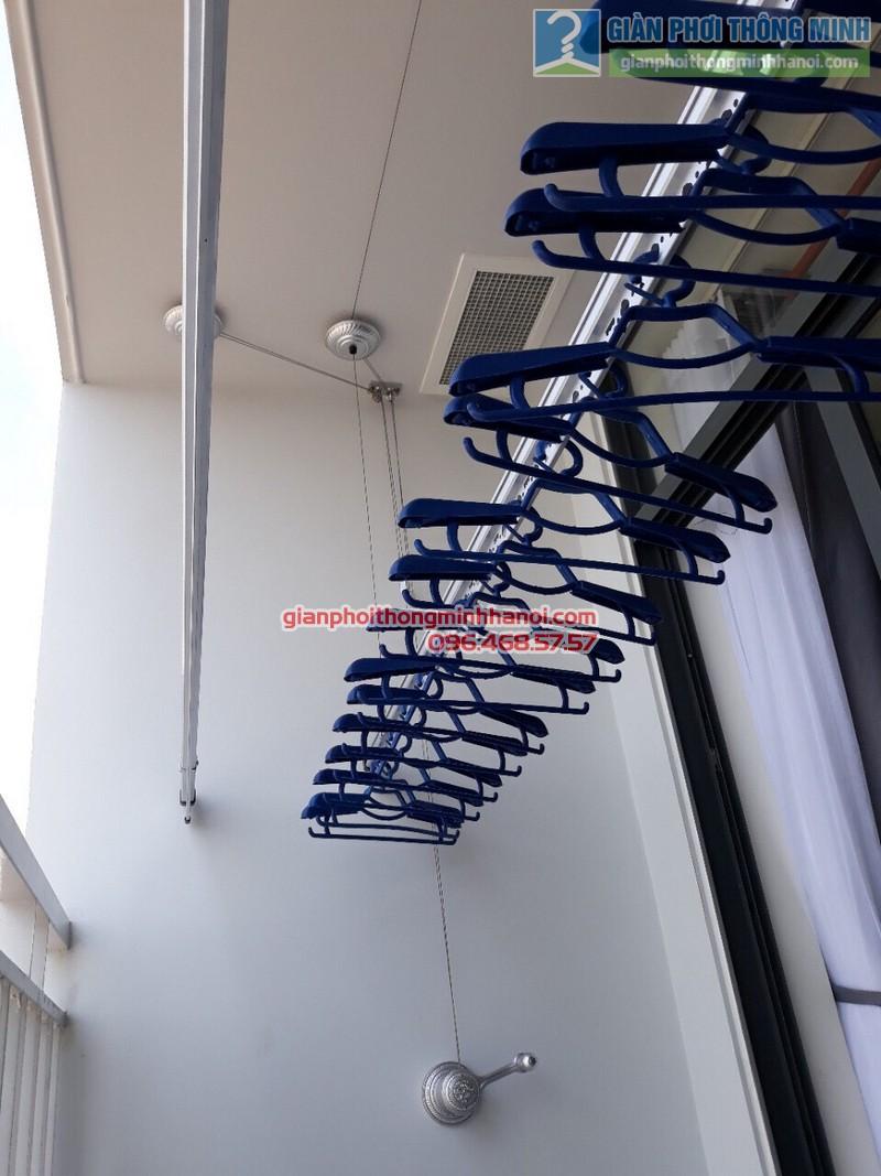 Lắp giàn phơi thông minh tphcm nhà anh Hải, chung cư Piva Park Quận 4 - 01