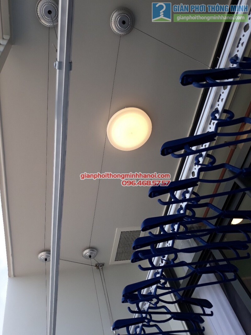 Lắp giàn phơi thông minh tphcm nhà anh Hải, chung cư Piva Park Quận 4 - 02