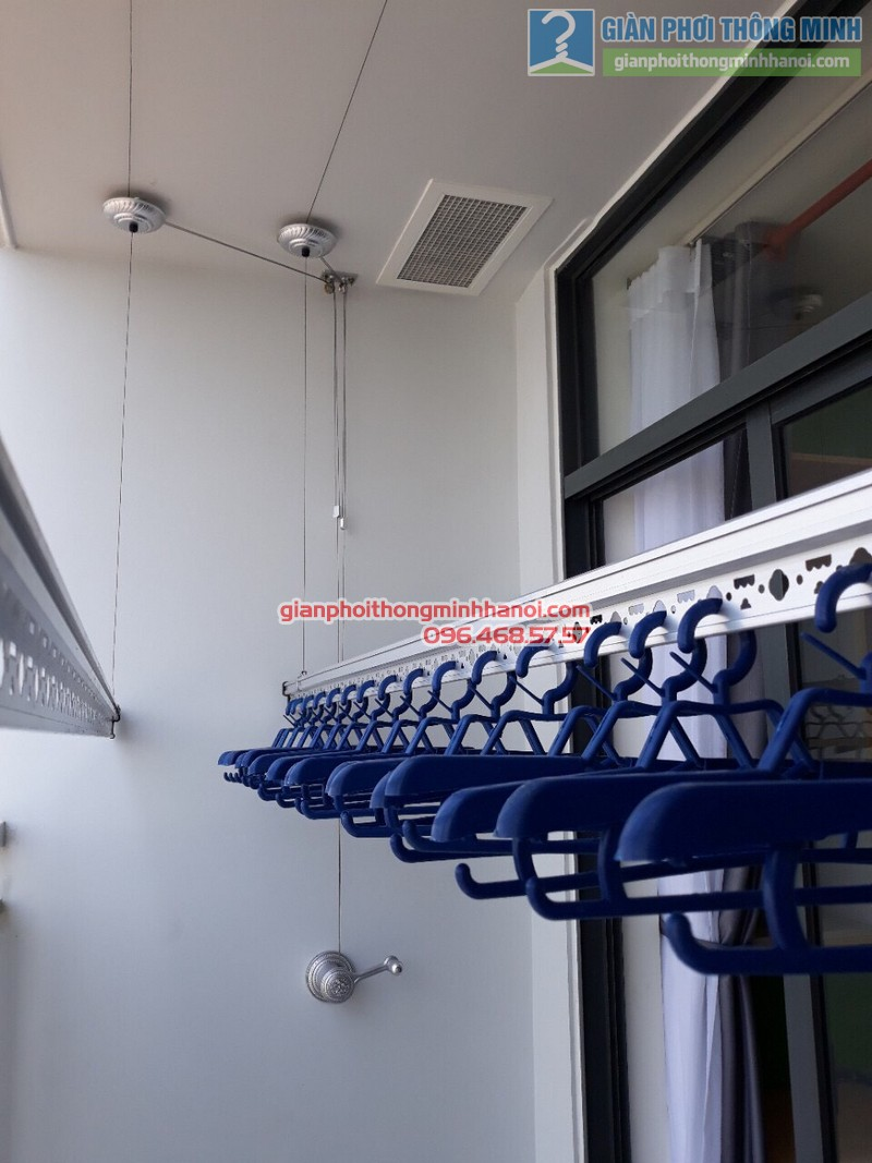 Lắp giàn phơi thông minh tphcm nhà anh Hải, chung cư Piva Park Quận 4 - 03