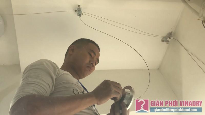 Lắp giàn phơi và lưới an toàn nhà chị Hồng,chung cư FLC Garden Đại Mỗ, Nam Từ Liêm, Hà Nội - 03