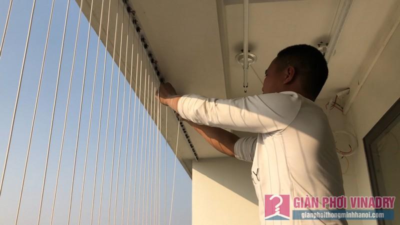 Lắp giàn phơi và lưới an toàn nhà chị Hồng,chung cư FLC Garden Đại Mỗ, Nam Từ Liêm, Hà Nội - 09