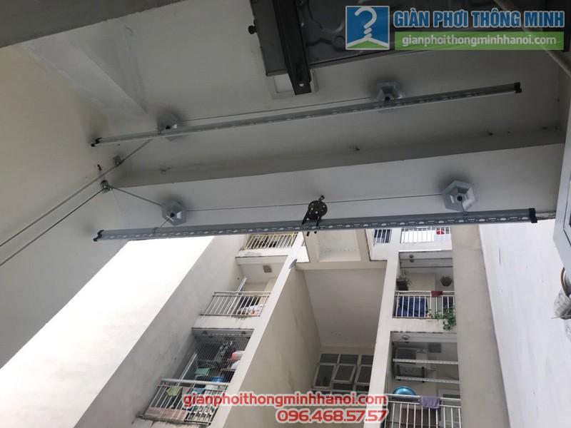 Lắp giàn phơi 999B nhà anh Hiệp, Chung cư CT18, kđt Việt Hưng, Long Biên, Hà Nội - 01