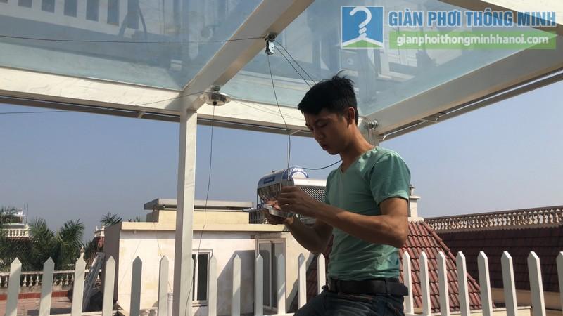 Bộ đôi giàn phơi GP701 được lắp đặt tai nhà chị Hòa, T16 Ciputra Tây Hồ, Hà Nội - 01