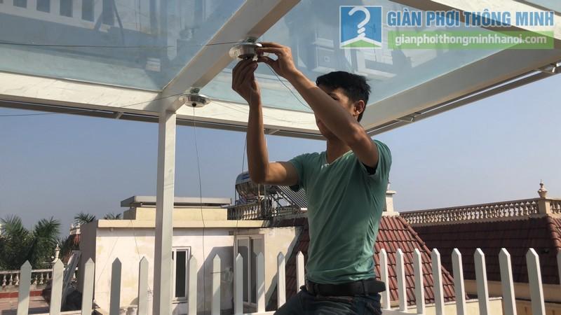Bộ đôi giàn phơi GP701 được lắp đặt tai nhà chị Hòa, T16 Ciputra Tây Hồ, Hà Nội - 02