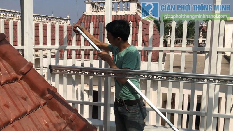 Bộ đôi giàn phơi GP701 được lắp đặt tai nhà chị Hòa, T16 Ciputra Tây Hồ, Hà Nội - 07