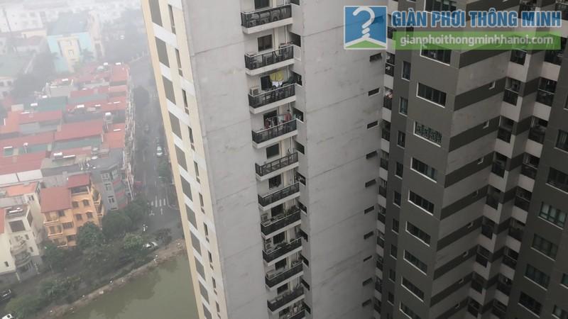 Khung cảnh chung cư sang trọng từ góc nhìn ban công nhà chị Hường