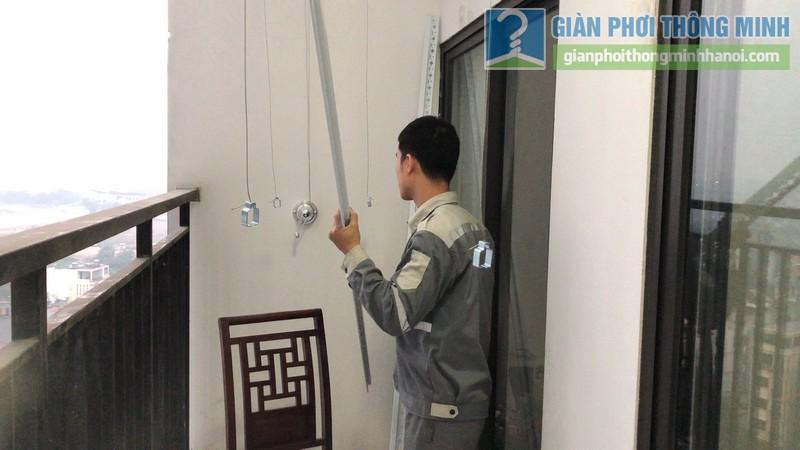 Lắp giàn phơi giá rẻ nhà chị Hằng, tòa A chung cư Hateco Hoàng Mai, Hà Nội - 04