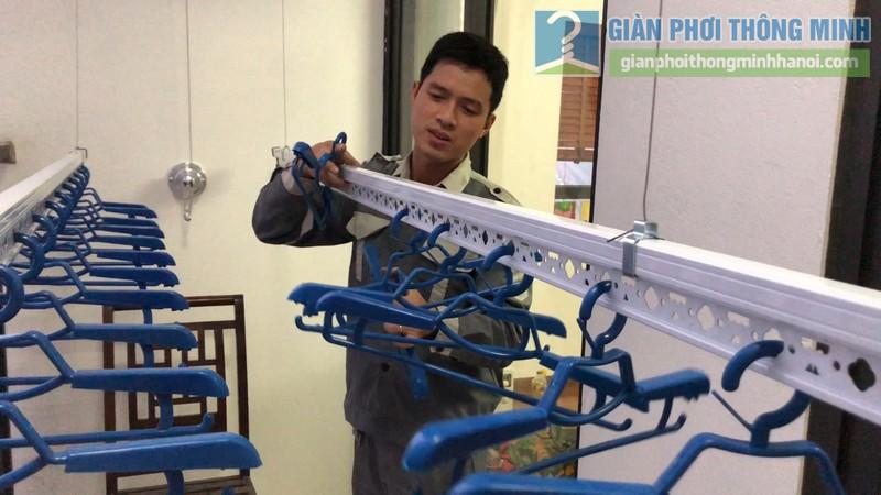 Lắp giàn phơi giá rẻ nhà chị Hằng, tòa A chung cư Hateco Hoàng Mai, Hà Nội - 06
