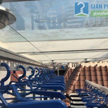 Bộ đôi giàn phơi tay quay liền GP701 được lắp ở nhà chị Hòa, T16 Ciputra Tây Hồ, Hà Nội