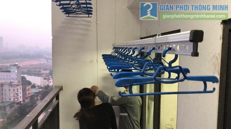 Lắp giàn phơi giá rẻ nhà chị Hằng, tòa A chung cư Hateco Hoàng Mai, Hà Nội - 08