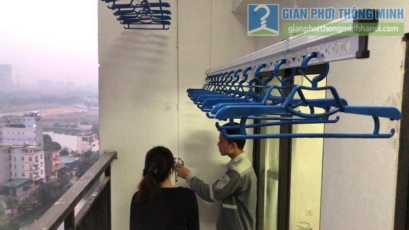 Lắp giàn phơi giá rẻ nhà chị Hằng, tòa A chung cư Hateco Hoàng Mai, Hà Nội - 09