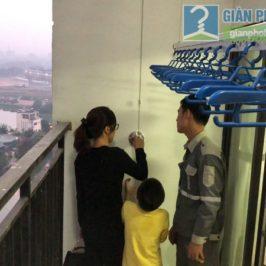 Lắp giàn phơi giá rẻ nhà chị Hằng, tòa A, chung cư Hateco, Hoàng Mai, Hà Nội