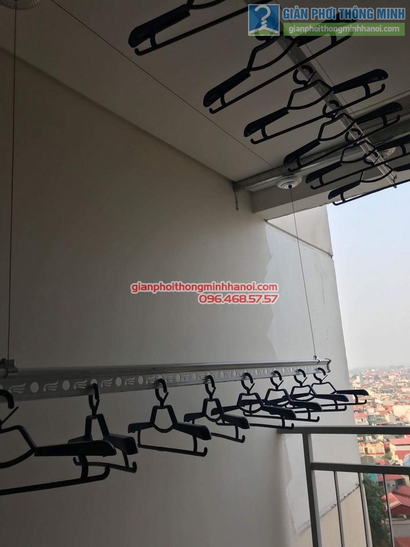 Lắp giàn phơi Long Biên nhà chị Liên, chung cư Mipec Long Biên, Hà Nội - 05