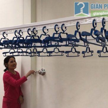 Lắp giàn phơi Thanh Xuân: bộ giàn phơi GP701 nhà cô Hân, ngõ 495 Nguyễn Trãi