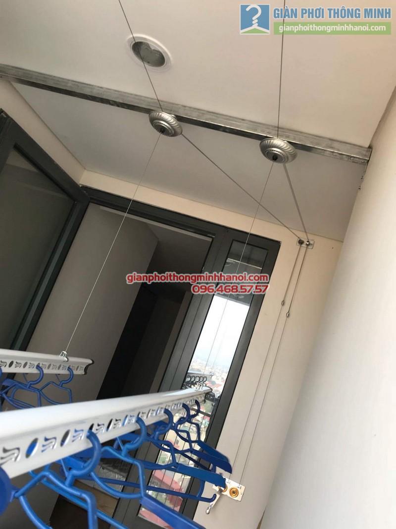 Lắp giàn phơi Long Biên nhà chị Liên, chung cư Mipec Long Biên, Hà Nội - 08