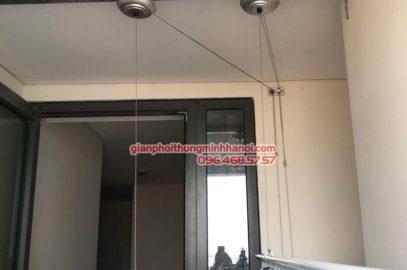 Lắp giàn phơi Long Biên nhà chị Liên, chung cư Mipec Long Biên, Hà Nội