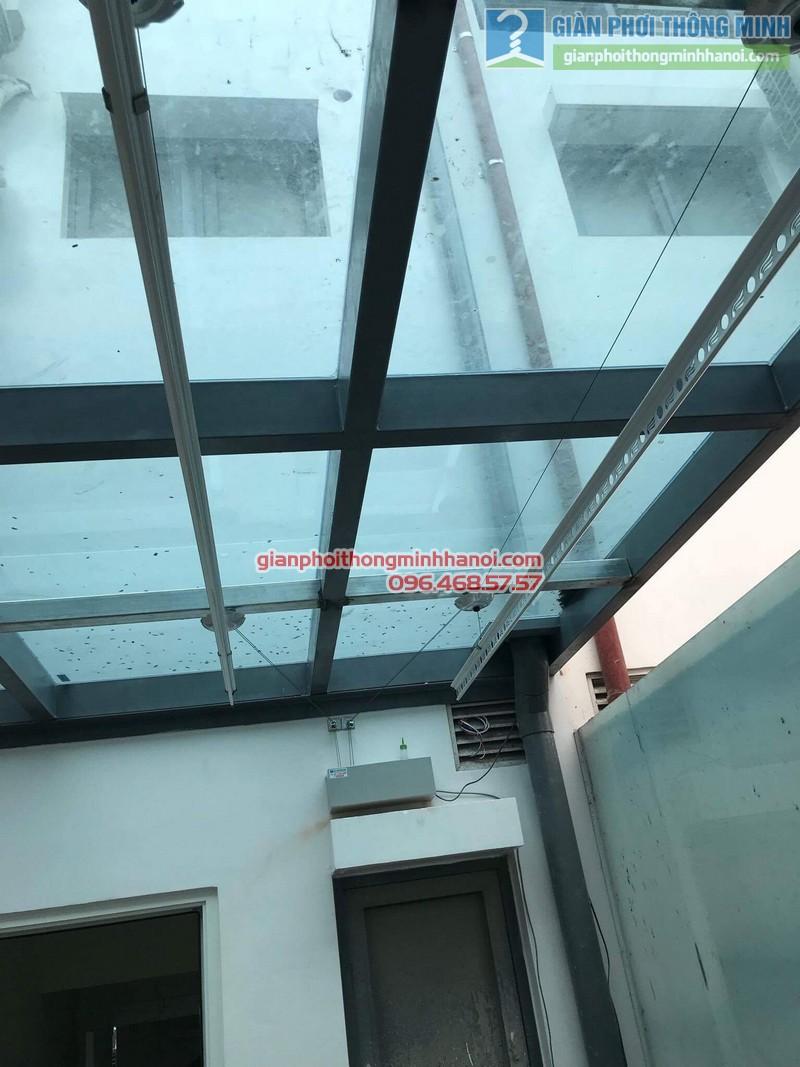 Lắp giàn phơi điện tự động nhà anh Tú, KĐT gamuda garden, Hoàng Mai, Hà Nội - 01