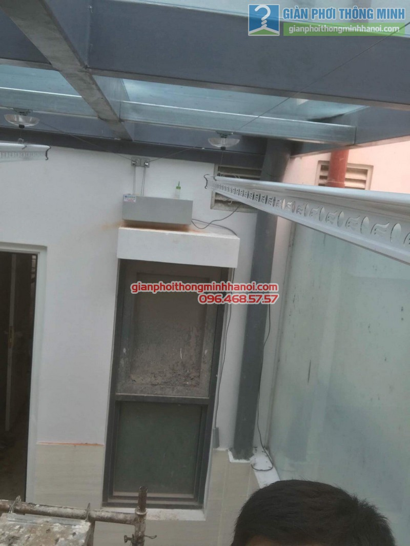 Lắp giàn phơi điện tự động nhà anh Tú, KĐT gamuda garden, Hoàng Mai, Hà Nội - 05
