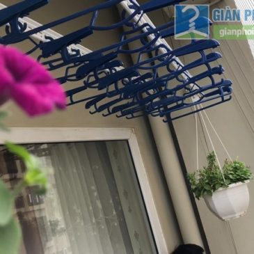 Lắp đặt giàn phơi thông minh nhà anh Công, Tòa V1 chung cư Victoria Văn Phú, Hà Đông, Hà Nội