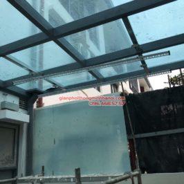 Lắp giàn phơi điện tự động nhà anh Tú, đường 3.1, KĐT Gamuda Garden, Hoàng Mai, Hà Nội