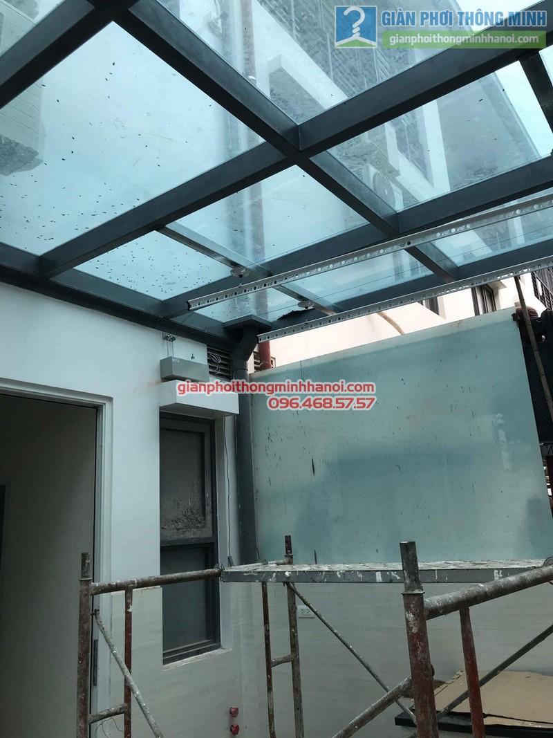 Lắp giàn phơi điện tự động nhà anh Tú, KĐT gamuda garden, Hoàng Mai, Hà Nội - 10