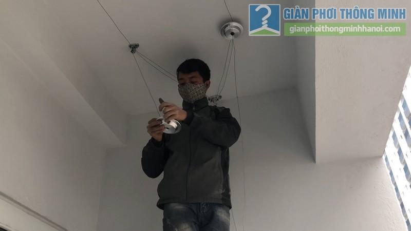 Lắp dàn phơi thông minh nhà chị Xuân, chung cư H02-2A, KĐT Thanh Hà, Thanh Oai, Hà Nội - 02