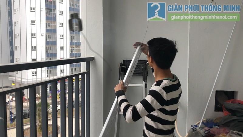 Lắp dàn phơi thông minh nhà chị Xuân, chung cư H02-2A, KĐT Thanh Hà, Thanh Oai, Hà Nội - 06