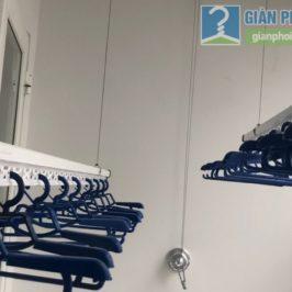 Lắp dàn phơi thông minh cho nhà chị Xuân, chung cư H02-2A, KĐT Thanh Hà, Thanh Oai, Hà Nội