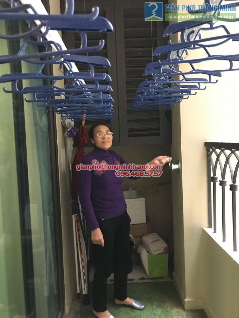 Lắp giàn phơi Hai Bà Trưng nhà cô Mị, chung cư Vincom Bà Triệu - 04