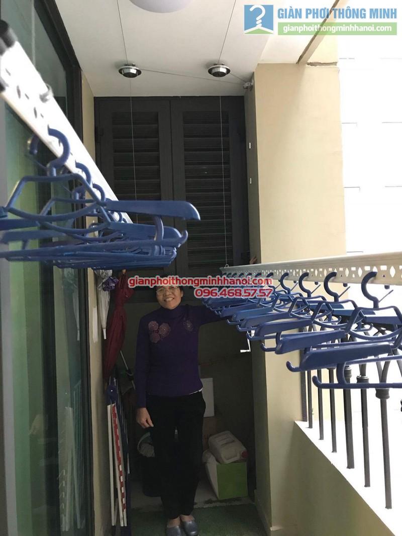Lắp giàn phơi Hai Bà Trưng nhà cô Mị, chung cư Vincom Bà Triệu - 08