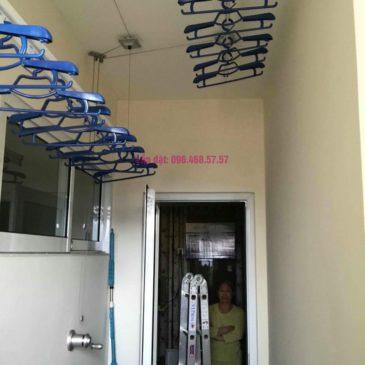 Lắp giàn phơi 950 nhà cô Mùi, chung cư Hòa Bình Green City, 505 Minh Khai, Hai Bà Trưng