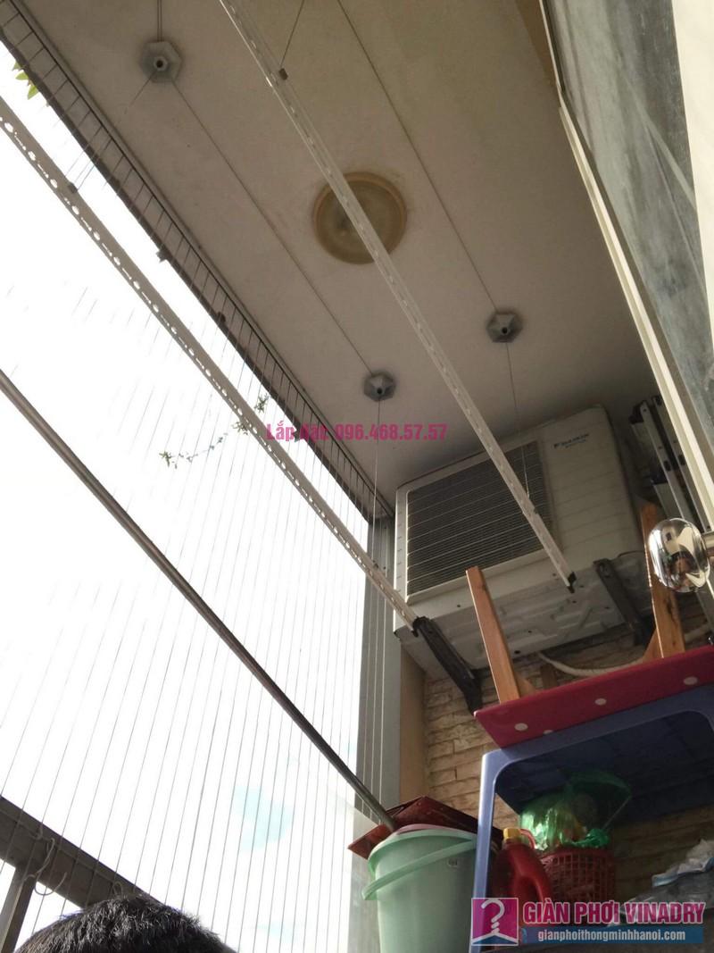 Lắp giàn phơi thông minh 999B, nhà chị Khanh, chung cư N07 B1, Dịch Vọng, Cầu Giấy, Hà Nội - 01