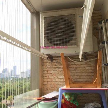 Lắp giàn phơi thông minh 999B nhà chị Khanh, chung cư N07 B1 Dịch Vọng, Cầu Giấy, Hà Nội