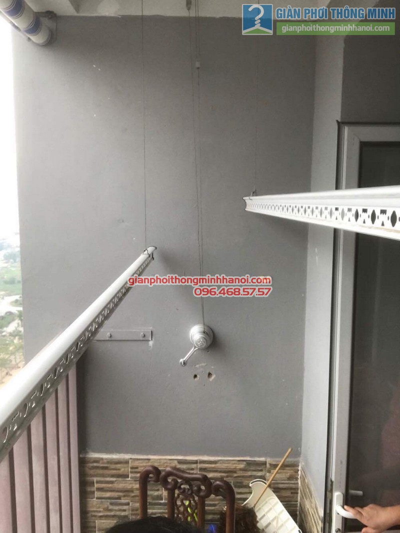 Thay bộ tời giàn phơi nhà anh Đức, CT1 Trung Văn, Nam Từ Liêm, Hà Nội - 04