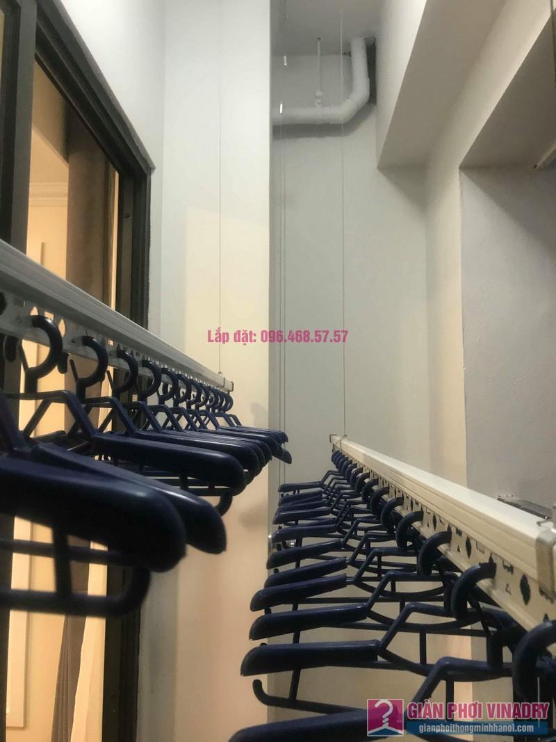 Lắp giàn phơi Hoàng Mai nhà chị My, chung cư Sunshine palace, ngõ 13 Lĩnh Nam - 04