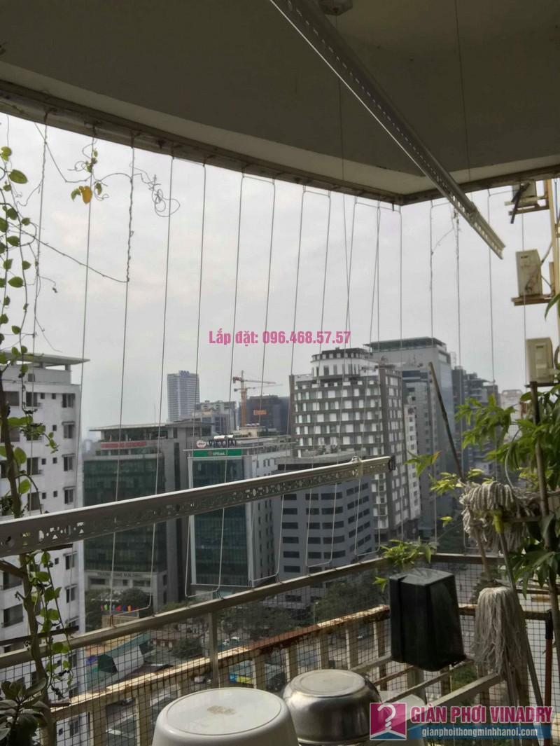 Sửa giàn phơi quần áo nhà anh Tình, chung cư Sunrise D11, 90 Trần Thái Tông, Cầu giấy, Hà Nội - 02
