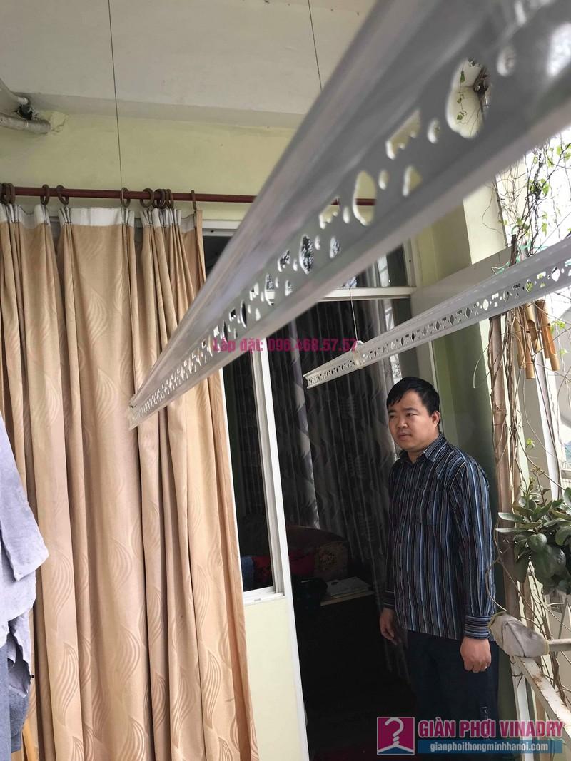 Sửa giàn phơi quần áo nhà anh Tình, chung cư Sunrise D11, 90 Trần Thái Tông, Cầu giấy, Hà Nội - 09