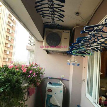 Sửa giàn phơi thông minh nhà anh Thăng, chung cư Green House, Long Biên, Hà Nội