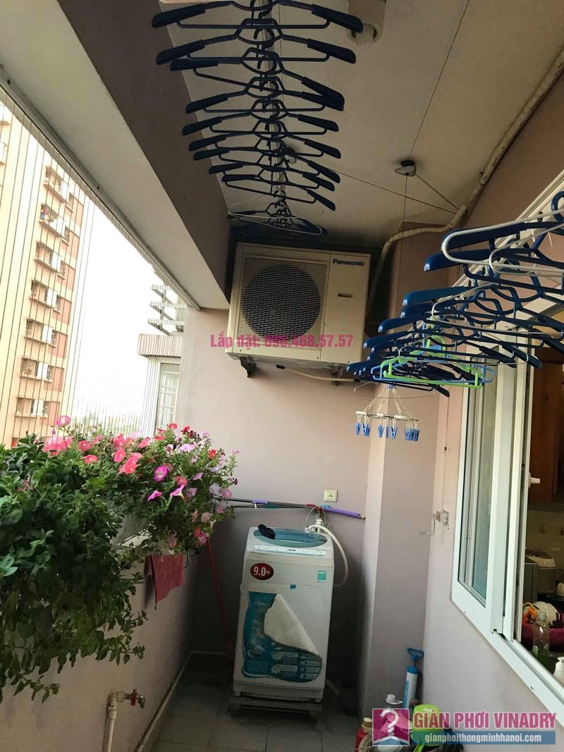 Sửa giàn phơi thông minh nhà anh Thăng, chung cư Green House, Long Biên, Hà Nội - 01