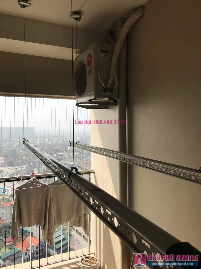 Thay bộ tời giàn phơi quần áo nhà anh Quân, chung cư CT4 The Pride, Hà Đông, Hà Nội - 02
