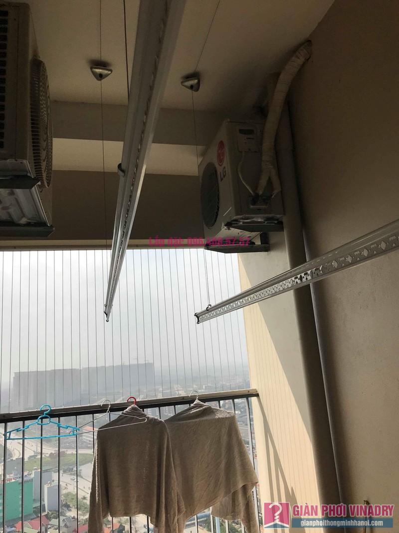 Thay bộ tời giàn phơi quần áo nhà anh Quân, chung cư CT4 The Pride, Hà Đông, Hà Nội - 03