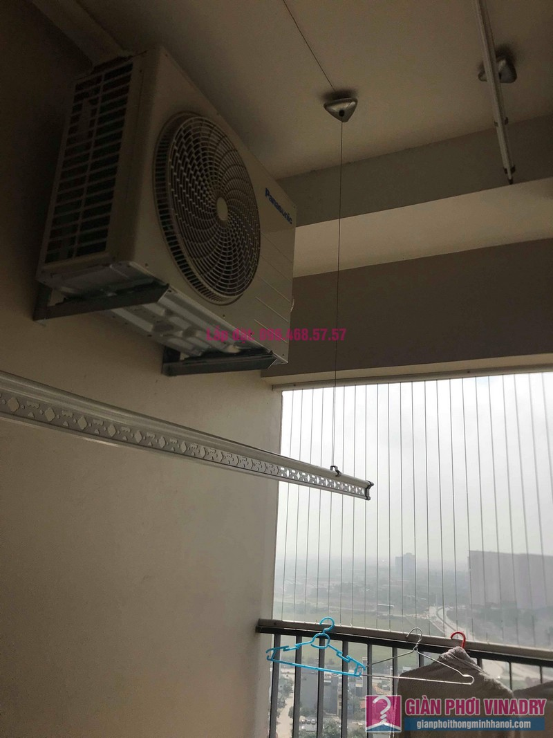 Thay bộ tời giàn phơi quần áo nhà anh Quân, chung cư CT4 The Pride, Hà Đông, Hà Nội - 05