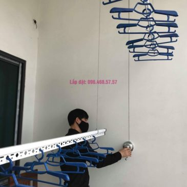 Lắp giàn phơi tại xã Tân Quang, Văn Lâm, Hưng Yên bộ giàn phơi 701 nhà chị My