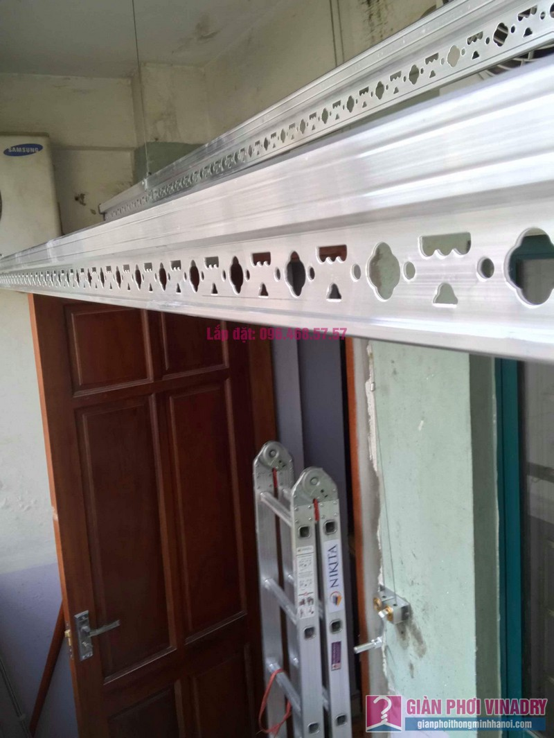 Lắp giàn phơi Hòa Phát 999B nhà chị Nhiên, chung cư CT3 - 1 Mễ trì hạ, Nam Từ Liêm, Hà Nội - 01
