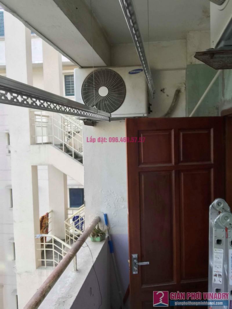 Lắp giàn phơi Hòa Phát 999B nhà chị Nhiên, chung cư CT3 - 1 Mễ trì hạ, Nam Từ Liêm, Hà Nội - 02
