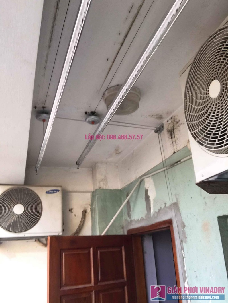 Lắp giàn phơi Hòa Phát 999B nhà chị Nhiêan, chung cư CT3 - 1 Mễ trì hạ, Nam Từ Liêm, Hà Nội - 03