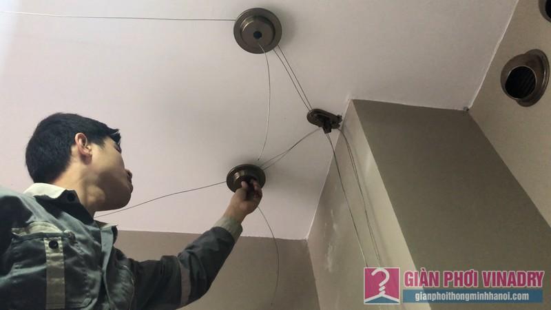 Lắp giàn phơi đồ thông minh nhà chị Thảo, chung cư CT2E VOV Mễ Trì, Nam Từ Liêm, Hà Nội - 03