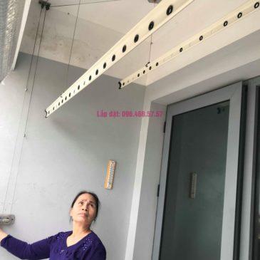 Sửa giàn phơi đồ Duy Lợi nhà cô Mai, chung cư CT36, Dream Home, Hoàng Mai, Hà Nội