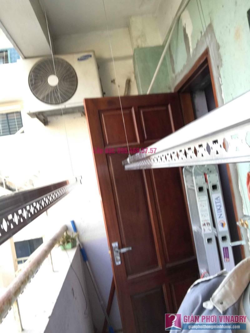 Lắp giàn phơi Hòa Phát 999B nhà chị Nhiên, chung cư CT3 - 1 Mễ trì hạ, Nam Từ Liêm, Hà Nội - 06